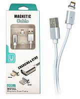Магнитный Кабель Apple Lightning Metal Magnetic DM-M12 1м, фото 1