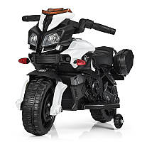 Мотоцикл Bambi M 3832L-1, 1 мотор 20W, аккум 6V4AH, MP3, свет, кож.сиденье, белый