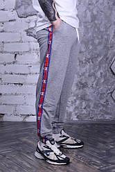 Штаны серые с лампасами Champion