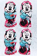 Варежки болоневые для девочек оптом, Disney,   № MIN-G-GLOVES-83, фото 1