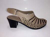 Женские кожаные босоножки на каблуке ТМ Anna Lucci     , фото 1
