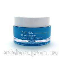 Крем для лица с гиалуроновой кислотой Farm Stay DR.V8 Solution Hyaluronic Acid Cream, 50 мл