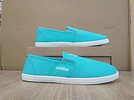 Adidas Мокасины слипоны кеды балетки |КОПИЯ| бирюзовые мятные голубые мягкие летние легкие