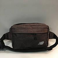 ac8378164380 Поясная сумка коричневая New Balance 2 отделения (Бананка, Сумка на пояс,  сумка на плечо)