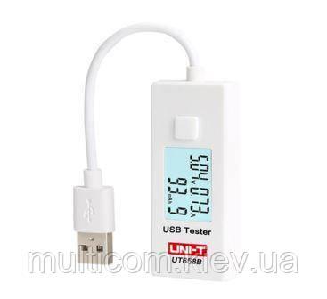 17-06-062. Тестер USB UNI-T UT658B, измеряет ток, емкость, напряжение c кабелем