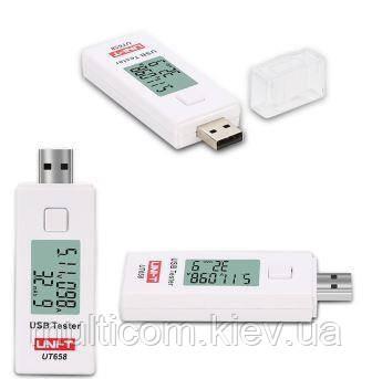 17-06-061. Тестер USB UNI-T UT658, измеряет ток, емкость, напряжение