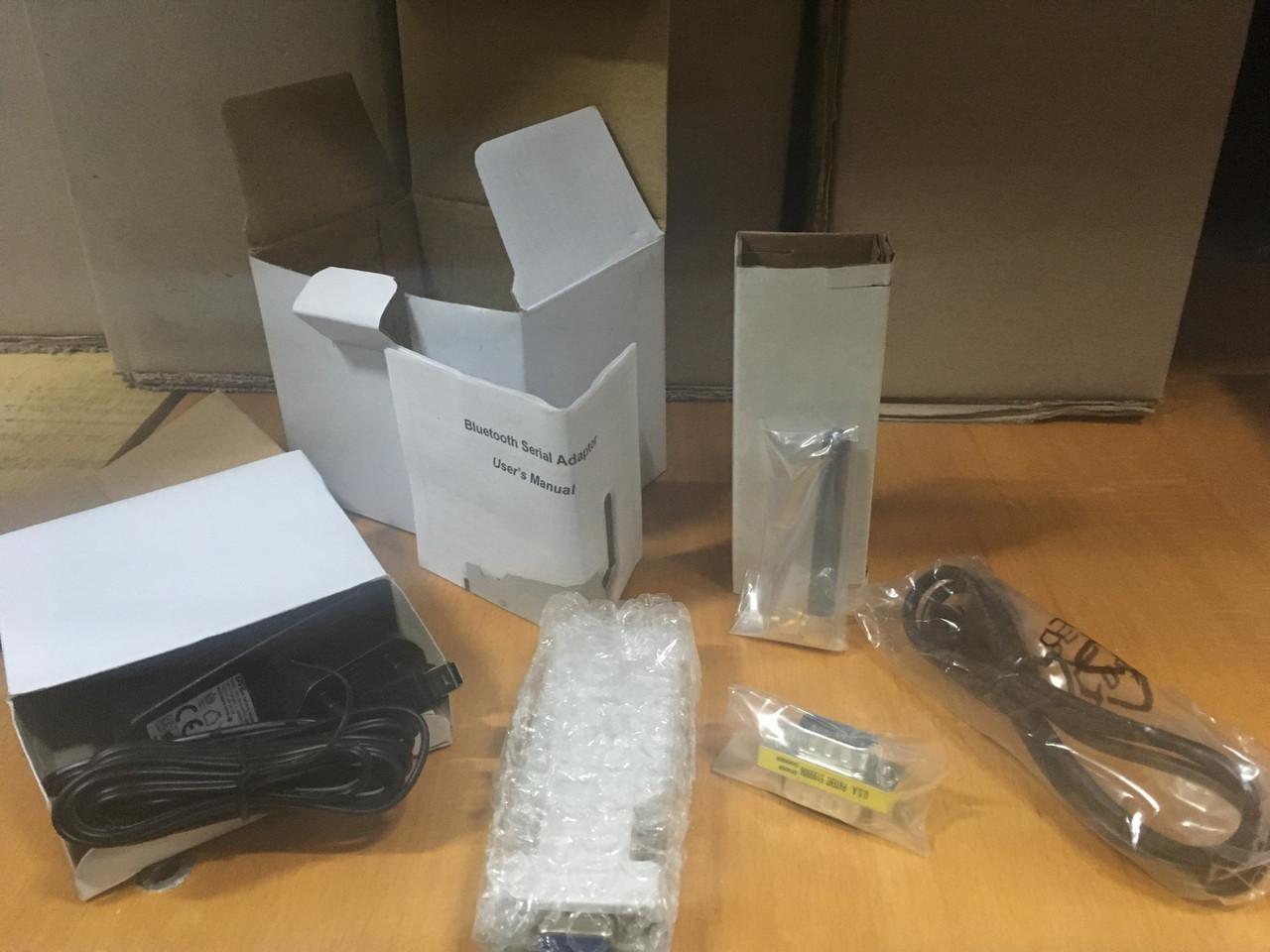 Bluetooth com зовнішній порт Rs232. Коробочний комплект