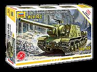 Сборка без клея. Модель советского истребителя танков ИСУ-122. 1/72 ZVEZDA 5054