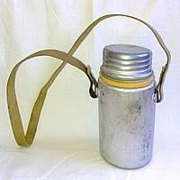Бидон алюминиевый 2,2 литра с наплечным ремнем для рыбалки СССР