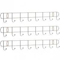 Вешалка настенная на 8 крючков, 54*5*4 см