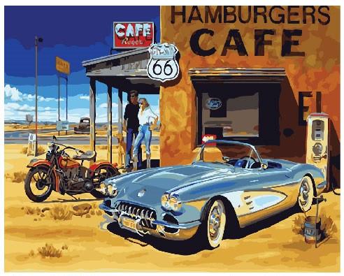 Картина по номерам Brushme   Придорожное кафе