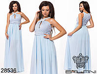 Шикарное вечернее платье в пол с драпировкой и бусинами размеры S-L