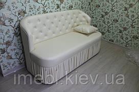 Кухонный диванчик в кожзаме (Молочный)