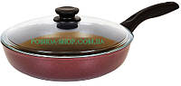 Сковорода Биол антипригарная Атлас со стеклянной крышкой, 22см 2213ПС