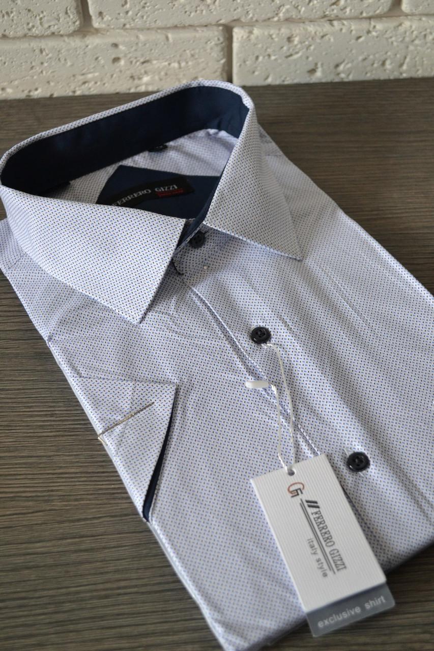 Мужская рубашка с коротким рукавом FERRERO GIZZI (размер 46)