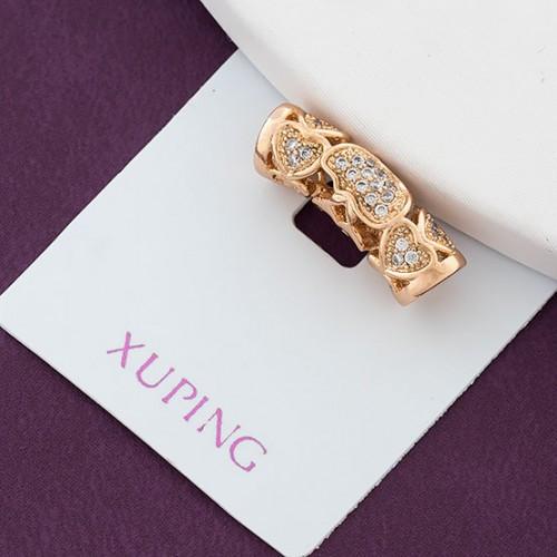 Подвеска Xuping Jewelry с узором сердечки, медицинское золото, позолота 18К. А/В 3192