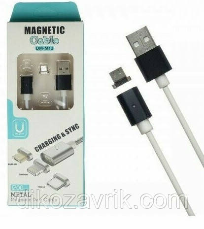 Магнитный Кабель Magnetic DM-M12, микро USB, фото 1