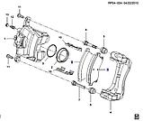 """Колодки тормозные передние Круз R15"""", Cruze J300, HS04-DW014, 13412272, фото 3"""