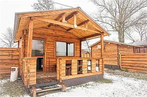 Дом из термомодифицированного бруса 24 м2 Thermo Wooden House 001. Кредитование строительства деревянных домов