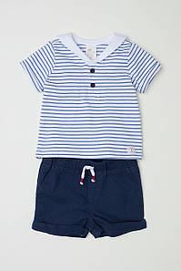 Комплект HM футболка и шортики 4-6 месяцев