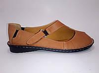 Женские кожаные босоножки на липучке ТМ Calisir, фото 1