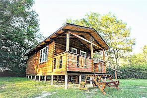 Дом из профилированного бруса с верандой 4.2х7.5. Кредитование строительства деревянных домов