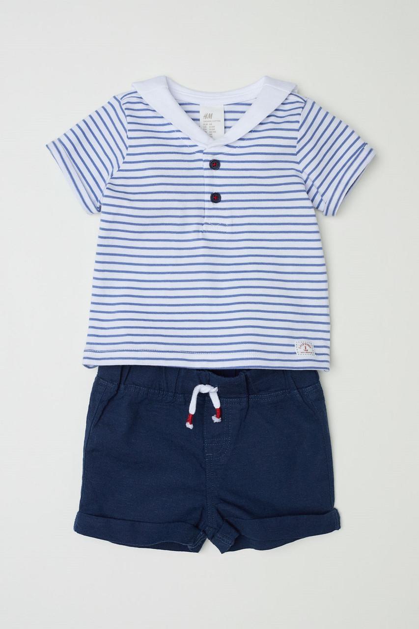 Комплект HM футболка и шортики 1-2 месяца