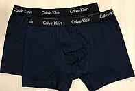 Мужски трусы - боксёры хлопок Calvin Klein Турция размер 2XL(52-54) тёмно-синие