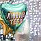 """Agura Куля 19""""/48 см, Серце, Люблю Тебе (золоте конфетті), М'ятний, фото 2"""