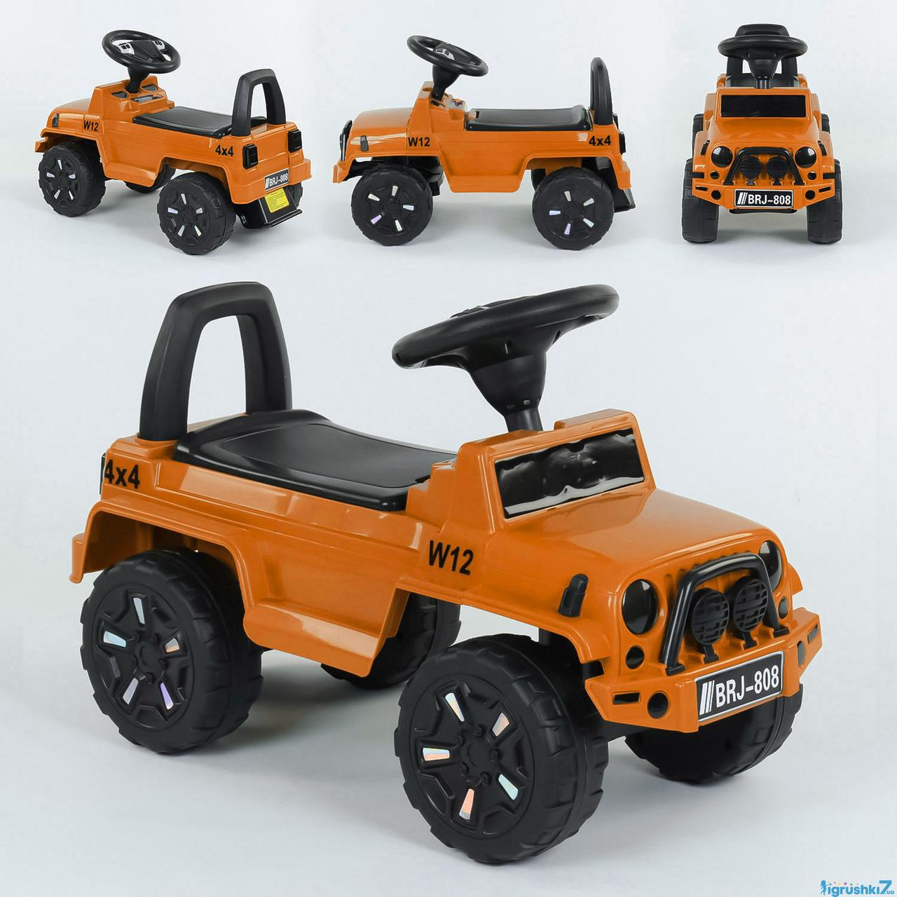 Машина-Толокар 808 G-8109 JOY помаранчева світло звук багажник
