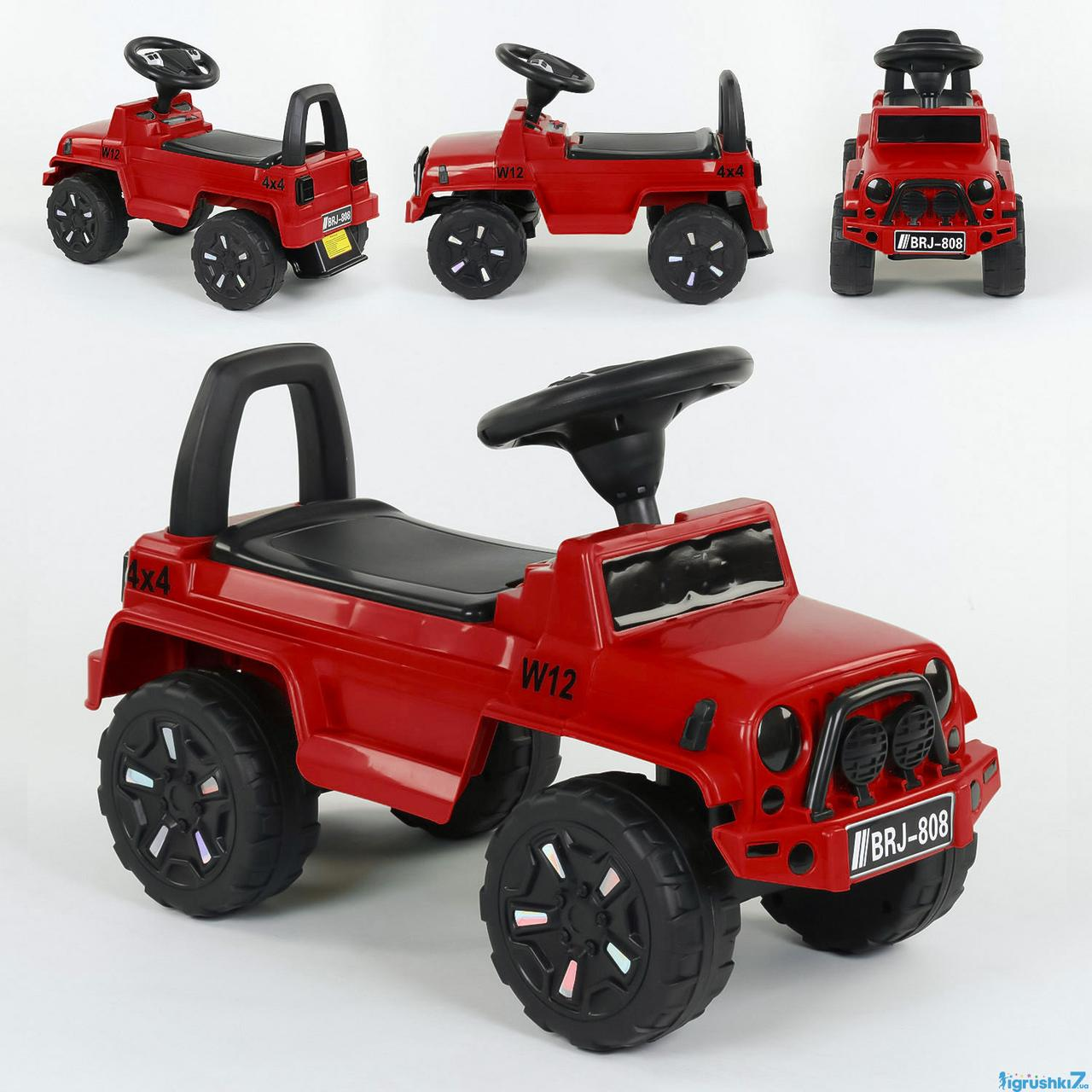 Машина-Толокар 808 G-8207 JOY червона, світло, звук, багажник