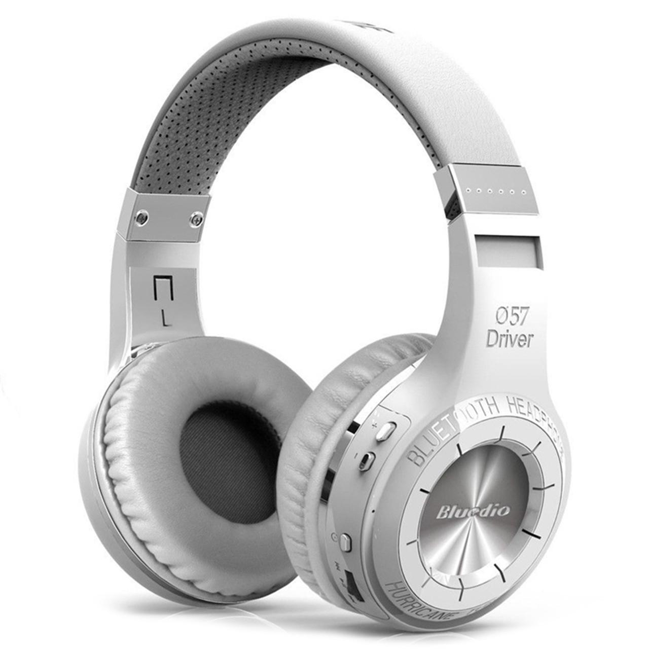 ★Bluetooth гарнитура Bluedio H+ White microSD Радио беспроводная с микрофоном для смартфона и планшета