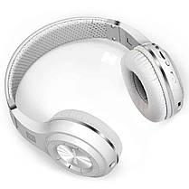 ★Bluetooth гарнитура Bluedio H+ White microSD Радио беспроводная с микрофоном для смартфона и планшета, фото 3