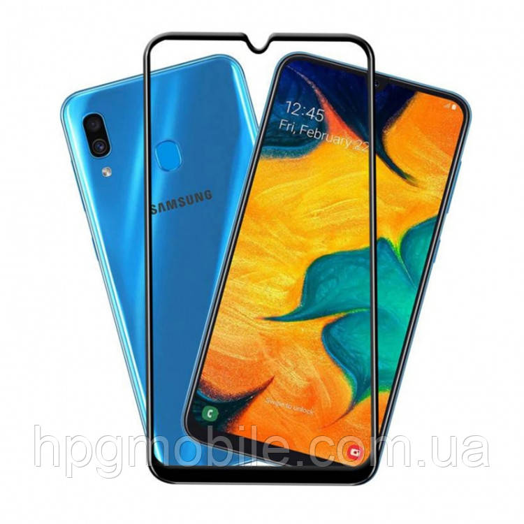 Защитное стекло 5D Full Glue на весь экран для Samsung A305 Galaxy A30, A505 Galaxy A50, M305 Galaxy M30