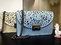 Клатч Италия , Итальянские кожаные сумки реплика Фурла Голубой