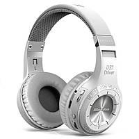 ☀Bluetooth гарнитура Bluedio H+ White беспроводная стерео наушники с микрофоном поддержка microSD FM-радио