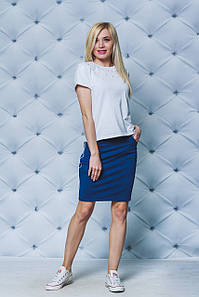 Летний комплект футболка+юбка джинс