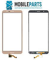 Сенсор (Тачскрин) для телефона Huawei Honor 7X (BND-L21) (Золотой) Оригинал Китай