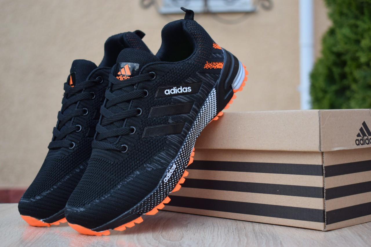53598411 Мужские Кроссовки Adidas Marathon Черные с Оранжевым Топ-реплика — в ...