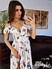 Шелковое принтованое платье в пол на запах, фото 2