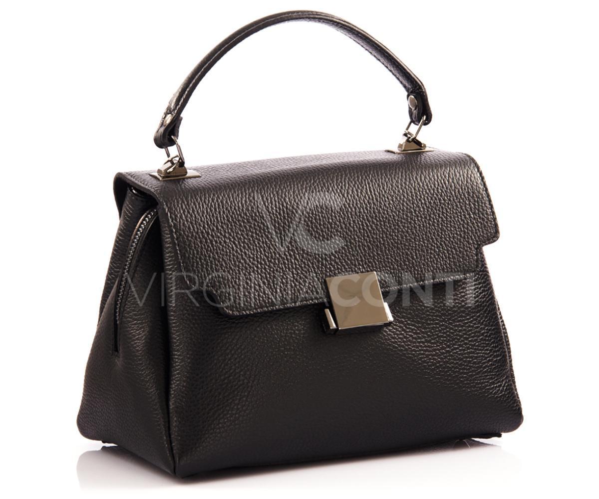 8e849c4b05c5 Женская кожаная черная сумка Virginia conti 02100, цена 1 490 грн., купить  в Киеве — Prom.ua (ID#962656022)