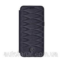 Оригинальный кожаный чехол-книжка для Samsung Galaxy S8 Mercedes Cover, Booktype, Blue (B66958607)