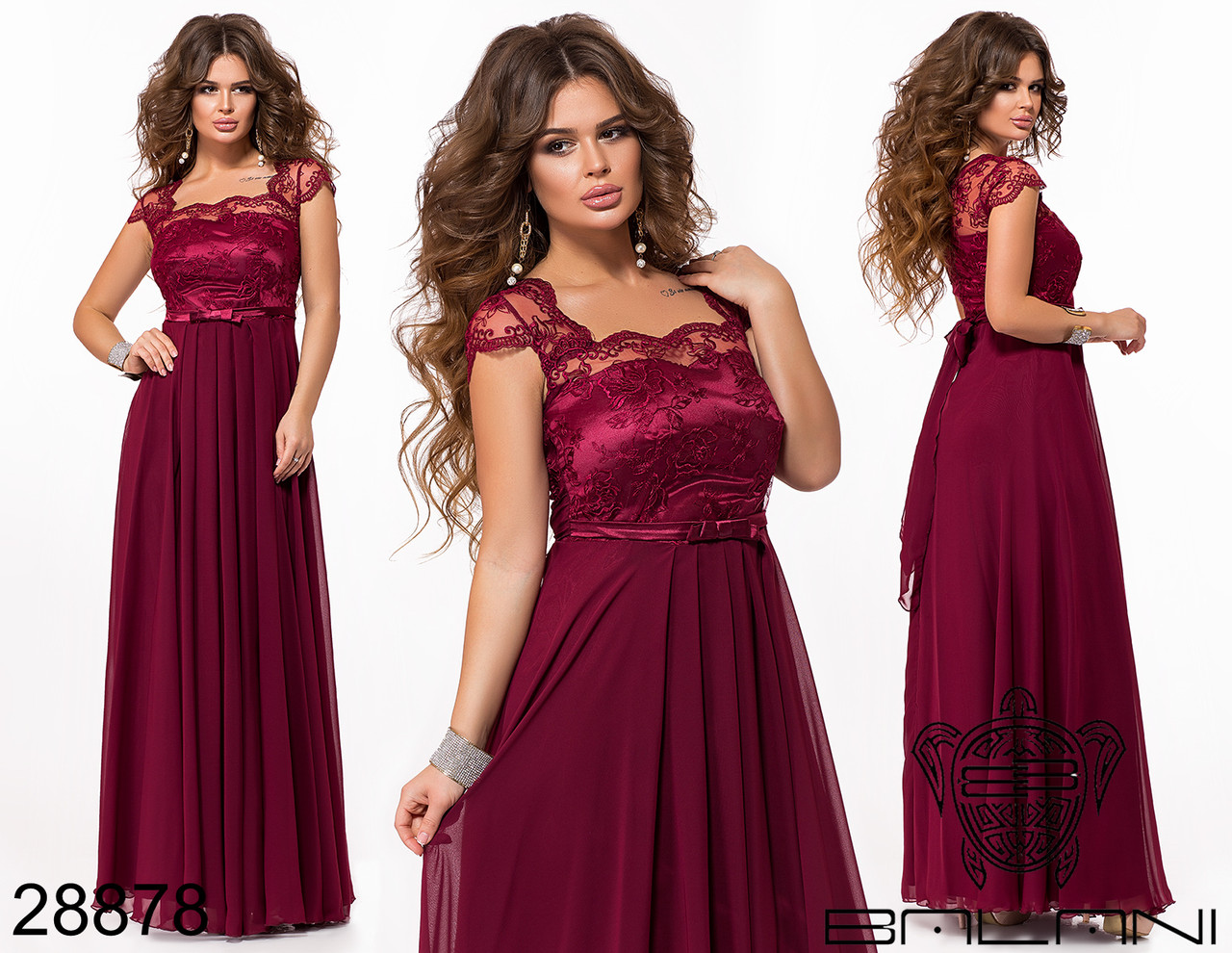 e8704ab2103 Купить Нежное вечернее платье в пол с вышивкой по сетке размеры S-L ...