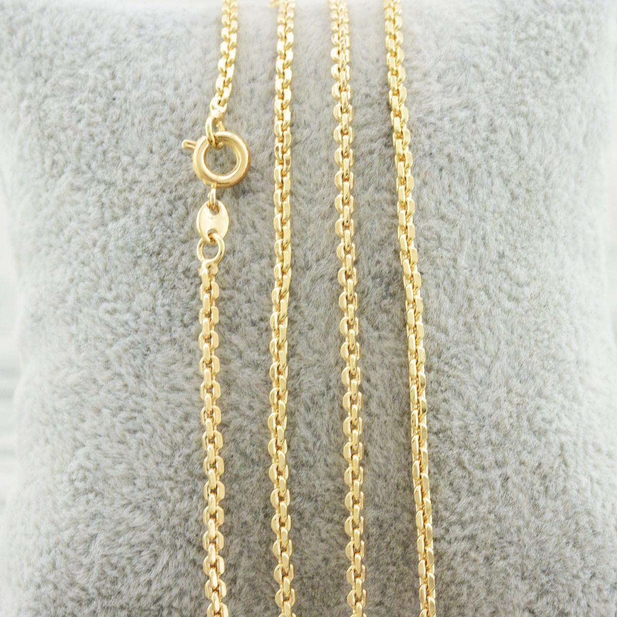 """Цепочка Xuping Jewelry 45 см х 2 мм """"Якорная"""" медицинское золото, позолота 18К. А/В 3200"""