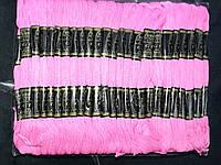 Мулине нити для вышивания и рукоделия 100 мотков по 8 м  (розовый)