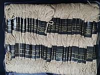 Мулине нити для вышивания и рукоделия 100 мотков по 8 м  (кофейные)