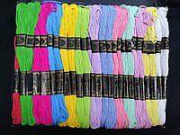 Мулине нити для вышивания и рукоделия 100 мотков по 8 м  (мультицвет, разноцветные)