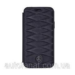 Оригинальный кожаный чехол-книжка для iPhone® X Mercedes Cover for iPhone® X, Booktype, Blue (B66958599)
