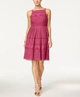 Брендове мереживне рожеве плаття CHARTER CLUB