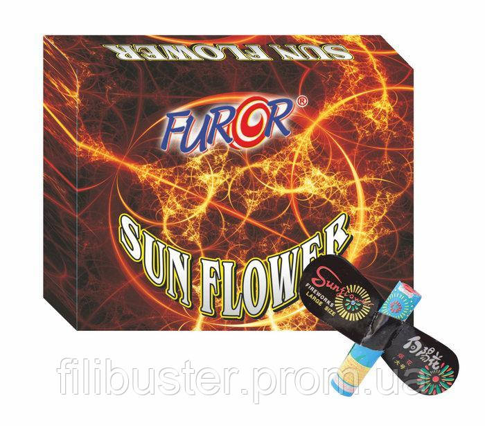 "Петарды Furor Sun Flower ""Вертушка"" 12 шт FP5007"